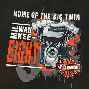 Harley Davidson Big Twin Black T-Shirt Men's 2XL